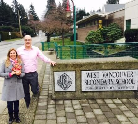 Visita à WEST VANCOUVER SECONDARY SCHOOL
